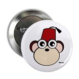 Fez Monkey 2.25&quot; Button (10 pack)