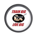 "MACHINE ""TRAIN BIG LIVE BIG"" Wall Clock"