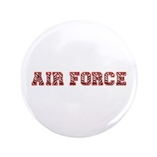 "Air Force Zebra Red 3.5"" Button (100 pack)"