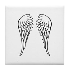 Angel wings Tile Coaster