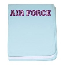 Air Force Zebra Dark Purple baby blanket