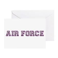 Air Force Zebra Dark Purple Greeting Card