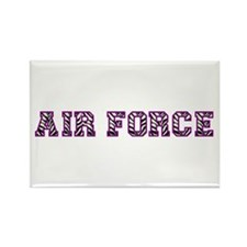 Air Force Zebra Dark Purple Rectangle Magnet (100
