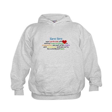Handmade With Love Boys Customised Kids Hoodie