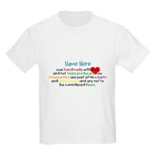 Handmade With Love Boys Customised T-Shirt