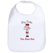 Big Sister Stick Figure Bib
