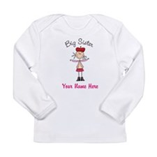 Big Sister Stick Figure Long Sleeve Infant T-Shirt