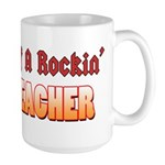 Property Of A Rockin Drum Teacher Large Mug