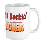 Property Of A Rockin Bass Teacher Large Mug