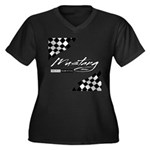 MustangFlags Women's Plus Size V-Neck Dark T-Shirt