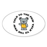 Cute Koala Sticker (Oval)