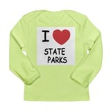 I heart state parks Long Sleeve Infant T-Shirt