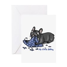 Unique Brindle bulldog Greeting Card