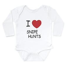 I heart snipe hunts Long Sleeve Infant Bodysuit