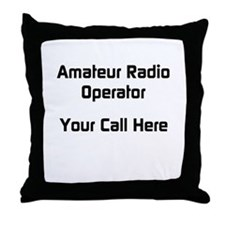 Personalized Call Sign Throw Pillow