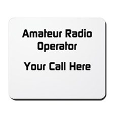 Personalized Call Sign Mousepad
