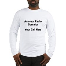 Personalized Call Sign Long Sleeve T-Shirt