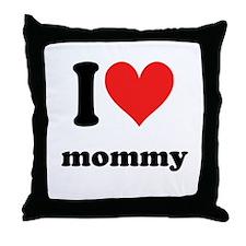 I Heart Mommy Throw Pillow