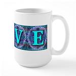 LOVE Silk Tapestry Skyblue Large Mug