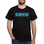 LOVE Silk Tapestry Skyblue Black T-Shirt