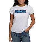 LOVE Silk Tapestry Skyblue Women's T-Shirt