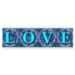 LOVE Silk Tapestry Skyblue Bumper Sticker
