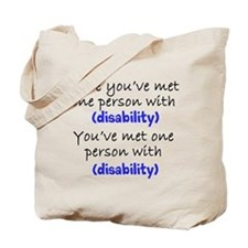One person with (any disabili Tote Bag