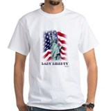 """Lady Liberty"" Patriotic t-shirt"