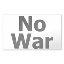 No War Rectangle Decal