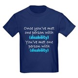 One person with (any disabili T
