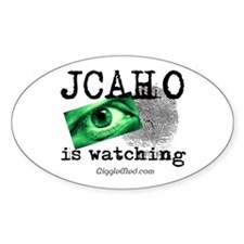 JCAHO Watching Oval Decal