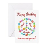 Scorpio Zodiac Birthday Greeting Cards (Pk of 20)