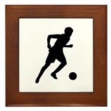 Soccer player Framed Tile