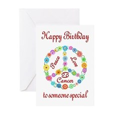 Cancer Zodiac Birthday Greeting Card