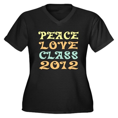 Peace Love Class 2012 Women's Plus Size V-Neck Tee
