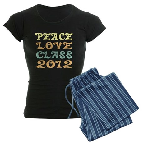 Peace Love Class 2012 Women's Dark Pajamas