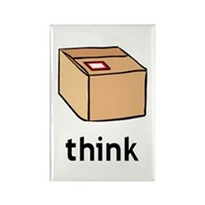 Think Outside the Box Rectangle Magnet (100 pack)