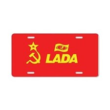 Hammer and Sickle Lada Logo Aluminum License Plate