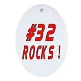 32 Rocks ! Oval Ornament
