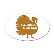 Turkey: Gobble Gobble 22x14 Oval Wall Peel
