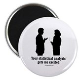 Your statistical analysis gets me excited - Magnet
