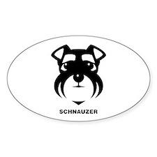 Schnauzer Icon [b/w] Decal