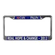 Funny Herman cain License Plate Frame