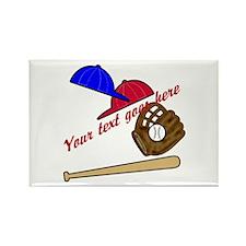 Personalized Baseball Gear Rectangle Magnet (10 pa