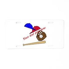 Personalized Baseball Gear Aluminum License Plate