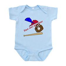 Personalized Baseball Gear Infant Bodysuit