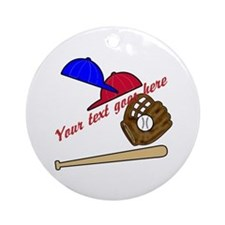 Personalized Baseball Gear Ornament (Round)
