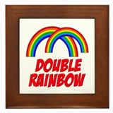 Double Rainbow Framed Tile