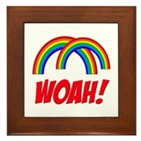 Double Rainbow WOAH! Framed Tile