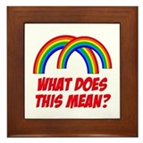 Double Rainbow What Does This Mean? Framed Tile
